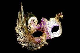 new orleans masks cignetta purple gold