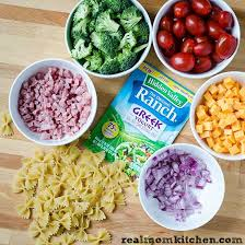 recipes for pasta salad ham and cheese ranch pasta salad real mom kitchen