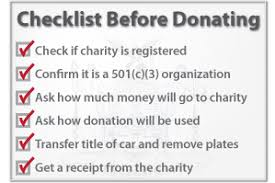 donating your vehicle to charity
