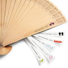 personalized fans for weddings wedding gifts personalized fan labels 1182002 weddbook