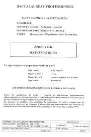coefficient bac pro cuisine maths bac pro cours et annales corrigées