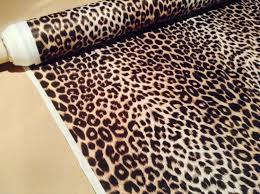 leopard print 2 way stretch polyester lycra jersey fabric