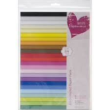 papermania a4 coloured paper pack of 48 multi colour amazon co