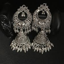 thailand earrings india jewelry woman earrings handmade antique silver tribe hippie