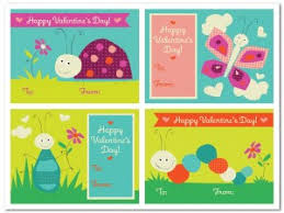 kids valentines cards printable buggy kids cards template