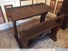 pupitre bureau banc d école en bois ancien banc ecole pupitre bureau a