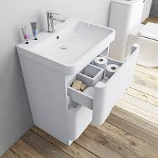 mode ellis white vanity drawer unit and basin 600mm victoriaplum com