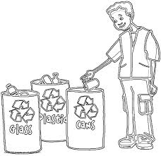 recycle bins coloring page