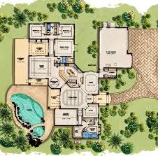 mediterranean homes plans floor plan of coastal contemporary florida mediterranean