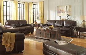 Traditional Sofas Living Room Furniture by Traditional Leather Match Sofa With Rolled Arms Nailhead Trim