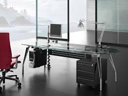 Office Glass Desk Modern Glass Desk Office Home Design