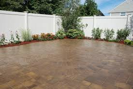 Lowes Paver Patio by Exterior Design Interesting Cambridge Pavers With Stone Bench And