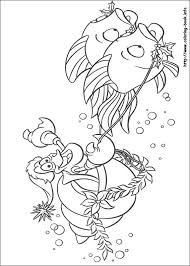 mermaid coloring pages coloring book