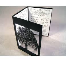folding wedding invitations bird tree laser cut paper place cards