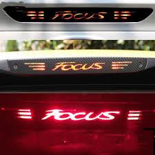 ford focus tail light bulb carbon fiber sticker high mount stop brake light bulb styling for