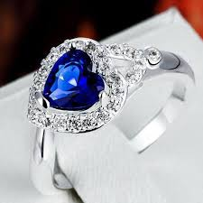 gemstone rings silver images Jexxi 925 sterling silver finger ring jewelry imitation gemstone jpg