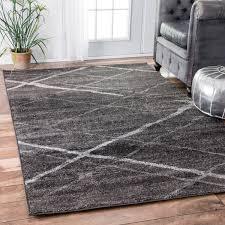 7 X 11 Area Rugs Nuloom Contemporary Striped Dark Grey Rug 7 U00276 X 9 U00276 Interior