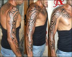 3d chest sleeve tattoos tribal image for design idea