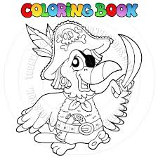 pirate parrot coloring pages at glum me