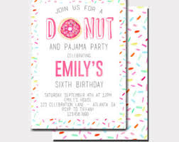 donuts and pajamas birthday invitation donut birthday