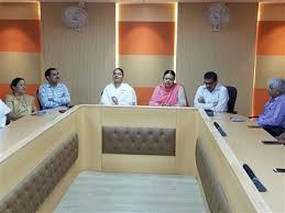 raksha bandhan was celebrated today at mc office where