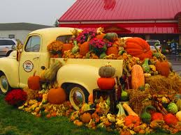 gorgeous fall display outside troyers market berlin oh all