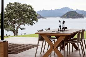 Terrace Dining Room Dining Table Terrace Amazing Views Cottage On Great Barrier