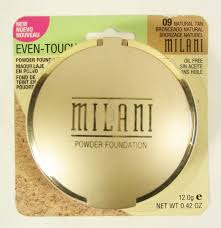 milani even touch powder oil free makeup natural tan 09