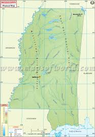 Map Of The Usa States by Physical Map Of Mississippi Mississippi Physical Map