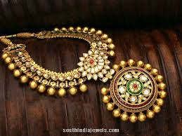 fashion jewellery necklace sets images Imitation antique necklace south india jewels jpg