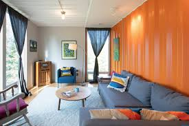 the shipping container as home a view of the living room the