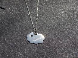 star sterling silver necklace images Hand engraved sterling silver cloud and star necklace jpg