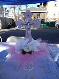 centerpieces for baptism baptism candle centerpieces mesa para communion centerpiece