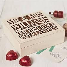 wedding keepsakes personalised wooden wedding keepsake box by