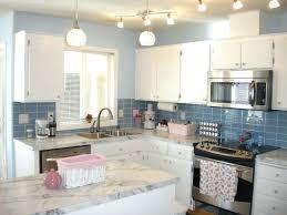 Blue Countertop Kitchen Ideas Kitchen Backsplashes Kitchen Backsplash Tile Blue Subway Sink
