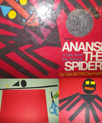 anansi the spider african story and spider craft red
