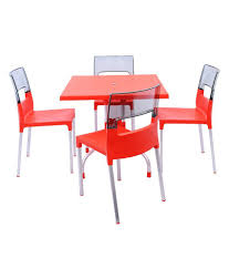 Supreme Furniture Chair Supreme Set Of 4diva Chair Red U0026 Light Black 1 Olive Table Red