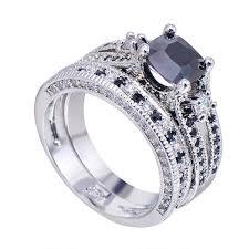 black crystal rings images 10kt white gold exquisite black sapphire crystal ring set jpg