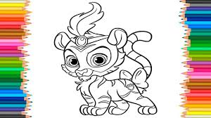tiger coloring book pages palace pets jasmine u0027s tiger sultan coloring pages coloring book