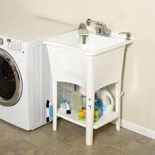 Laundry Room Utility Sink by Zenith Lt2005w Ergotub Full Featured Freestanding Laundry Tub