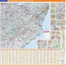 Ohio River On Map by Rand Mcnally Proseries Regional Wall Map Mid Atlantic Coast U0026 The