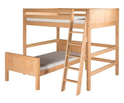 camaflexi full over twin size loft bed in natural finish e2121