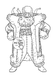 claus from rise of the guardians coloring pages for kids