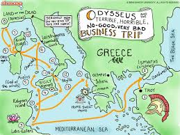 Ancient Greece On A World Map by The Odyssey