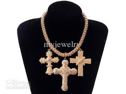 chunky necklace pendants images Wholesale retro gothic punk gold tone big cross necklace chunky jpg