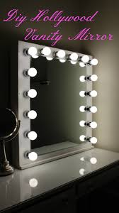 diy hollywood vanity mirror with lights youtube