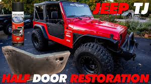 jeep lj interior jeep tj half doors restoration bedline youtube