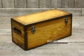 plain wooden storage box