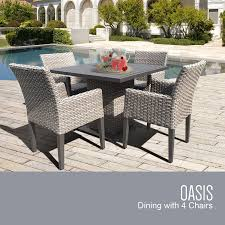 Oasis Outdoor Patio Furniture by Amazon Com Tk Classics Oasis Square Outdoor Patio Dining Table