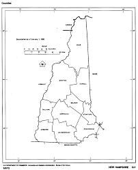 United States Map Black And White by New Hampshire Maps From Netstate Com
